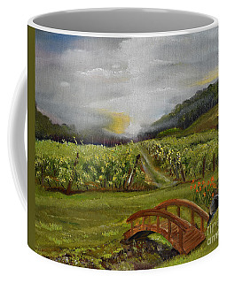 Sunshine Bridge At The Cartecay Vineyard - Ellijay Ga - Vintner's Choice Coffee Mug