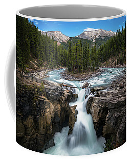 Coffee Mug featuring the photograph Sunwapta Falls In Jasper National Park by James Udall