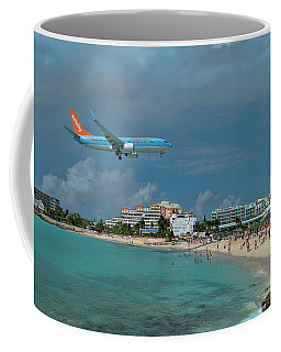 Sunwing Airline At Sxm Airport Coffee Mug