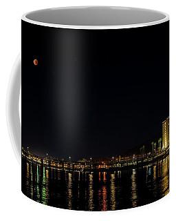 Super Blue Blood Moon Over Ventura, California Pier  Coffee Mug