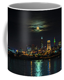Super Full Moon Over Cleveland Coffee Mug