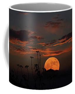 Super Moon And Silhouettes Coffee Mug by John Haldane