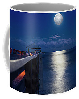 Coffee Mug featuring the photograph Super Moon At Juno by Laura Fasulo