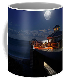 Super Moon At Juno Pier Coffee Mug
