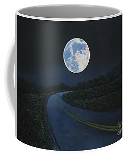 Super Moon At The End Of The Road Coffee Mug