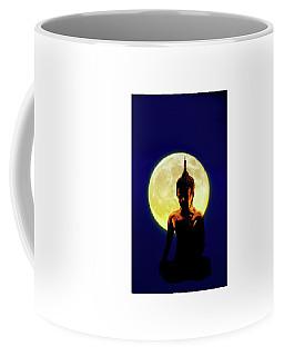 Coffee Mug featuring the photograph Super Moon Buddha by Joseph Hollingsworth