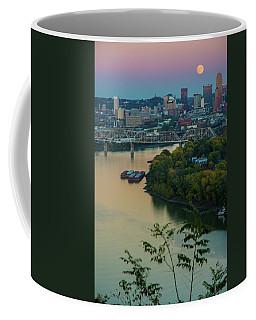 Coffee Mug featuring the photograph Super Moon Cincinnati River by Randall Branham