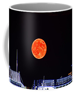 Coffee Mug featuring the photograph Super Moon Over Crazy Sister Marina by Bill Barber