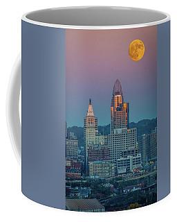 Super Moon Over Great American City Coffee Mug