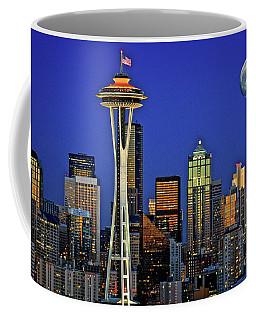 Super Moon Over Seattle Coffee Mug