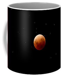 Super Red Blue Moon Eclipse Coffee Mug