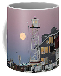 Super Wolf Moon At The Watch Tower Coffee Mug