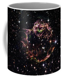 Coffee Mug featuring the photograph Supernova Remnant Cassiopeia A by Marco Oliveira