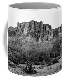 Superstition Mountain B/w Coffee Mug