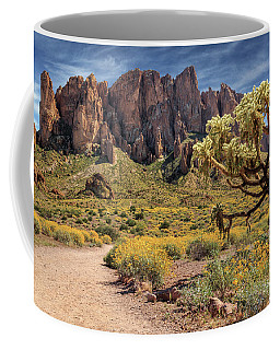 Superstition Mountain Cholla Coffee Mug by James Eddy