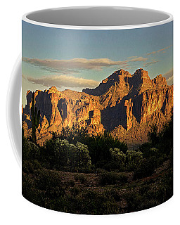 Superstitions At Sunset  Coffee Mug