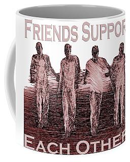 Support Friends In Bronze Coffee Mug
