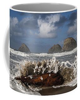 Surf And Three Arch Rocks Coffee Mug