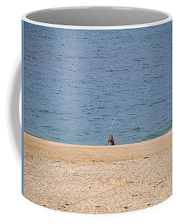 Coffee Mug featuring the photograph Surf Caster by  Newwwman