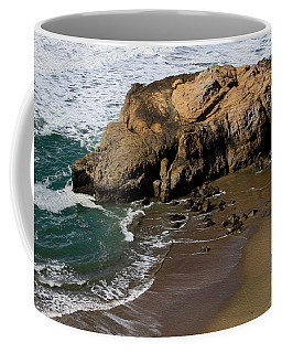 Surf Fishing At Ocean Beach Coffee Mug