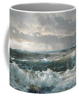 Surf On The Rocks Coffee Mug by  Newwwman