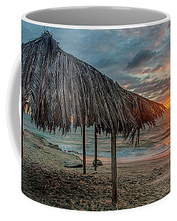 Surf Shack At Sunset - Wide Format Coffee Mug