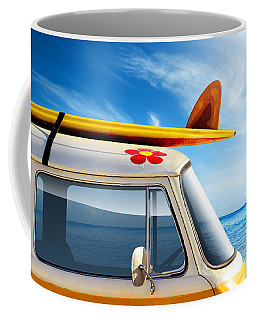 Surf Van Coffee Mug by Carlos Caetano