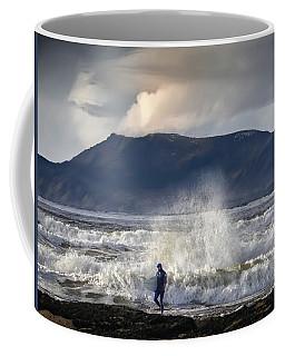Surfer And A Big Wave Coffee Mug