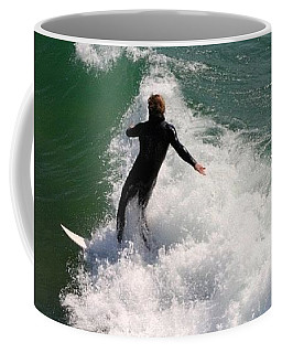 Surfer Catching A Wave Coffee Mug