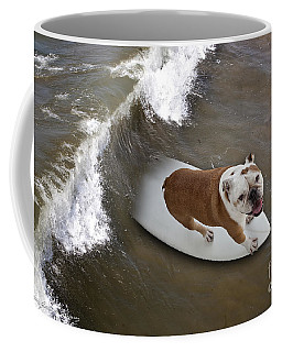 Surfer Dog Coffee Mug