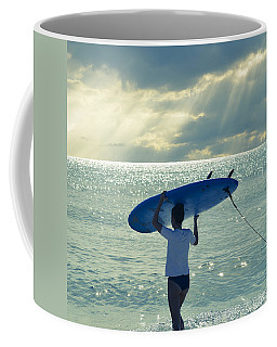Surfer Girl Square Coffee Mug