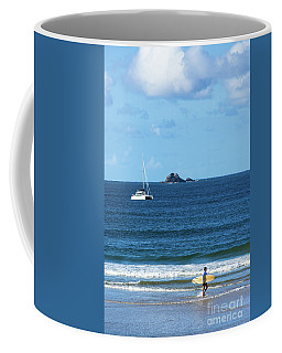 Surfer On Main Beach Coffee Mug