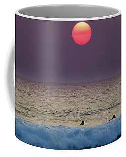 Surfers At Sunset Coffee Mug