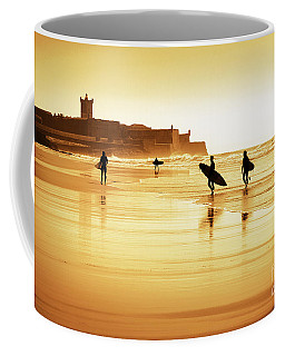 Surfers Silhouettes Coffee Mug