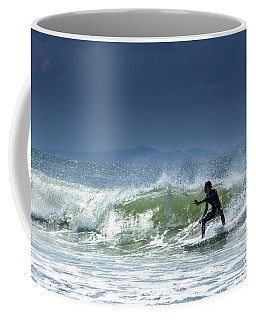 Surfing At Byron Bay Coffee Mug