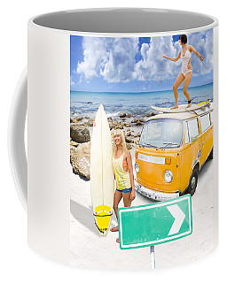 Coffee Mug featuring the photograph Surfing Holiday This Way by Jorgo Photography - Wall Art Gallery