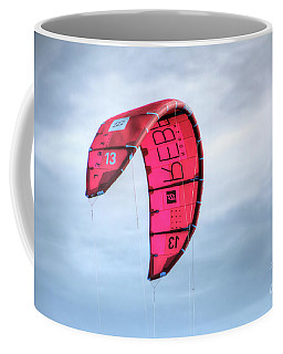 Coffee Mug featuring the photograph Surfing Kite by Adrian LaRoque