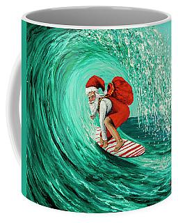 Surfing Santa Coffee Mug by Darice Machel McGuire