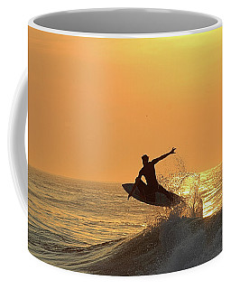 Coffee Mug featuring the photograph Surfing To The Sky by Robert Banach