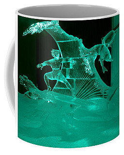 Surfing With Dolphins Coffee Mug