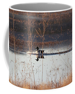 Coffee Mug featuring the pyrography Surfs Up by Michael Lucarelli