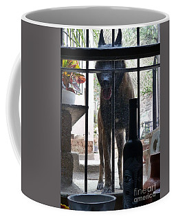 Coffee Mug featuring the photograph Surprise Visitor by Rosanne Licciardi