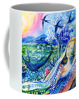 Surprised By A Swallow  Coffee Mug