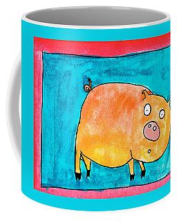 Surprised Pig Coffee Mug
