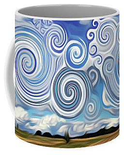 Surreal Cloud Blue Coffee Mug