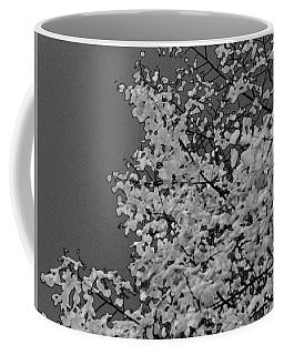 Surreal Deconstruction Of Fall Foliage In Noir Coffee Mug
