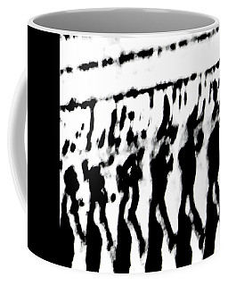 Surreal From Tire Tracks In Sand Coffee Mug