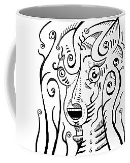 Surrealism Scream Black And White Coffee Mug