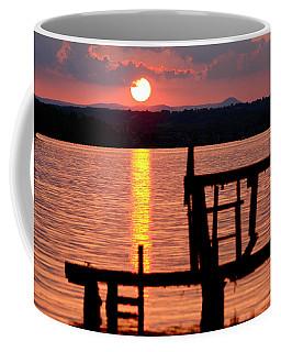 Surreal Smith Mountain Lake Dockside Sunset 2 Coffee Mug