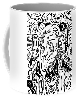 Surrealism Philosopher Black And White Coffee Mug